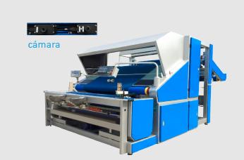 Máquina de inspección y enrollado de telas para tejidos de punto